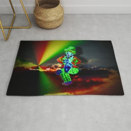 Creations in the color spectrum of the rainbow - Clown Rug