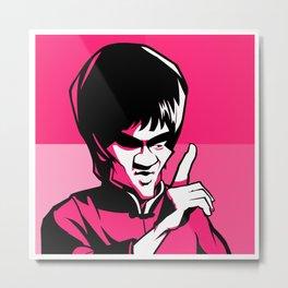 Kung fu master pink Metal Print