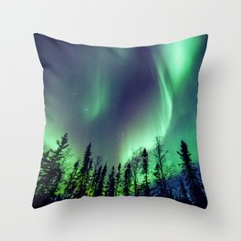Northern Lights in Yellowknife Throw Pillow