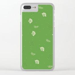 Virgo Pattern - Green Clear iPhone Case