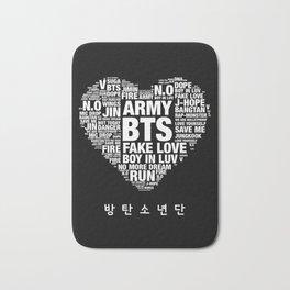 BTS ARMY Fan Art : Typography Bath Mat