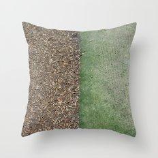 Grass and Mulch Throw Pillow