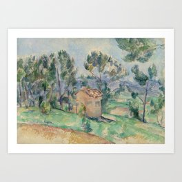 Hunting Cabin in Provence (Cabane de chasse en Provence) (ca 1888-1890) by Paul Cezanne Art Print