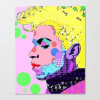 prince Canvas Prints featuring Prince by Ricky Sencion