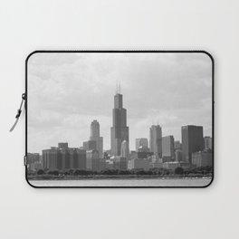 Chicago Skyline Black and White Laptop Sleeve