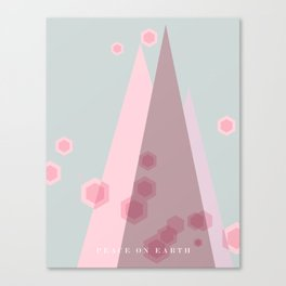 Modern Trees Color Pink Canvas Print