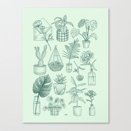 PLANTS LOVER Canvas Print