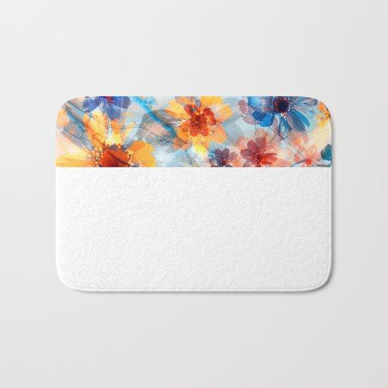Floral abstract(37). Bath Mat