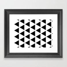 Sleyer Black on White Pattern Framed Art Print