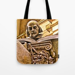 Shakespeare Hits the Books Tote Bag