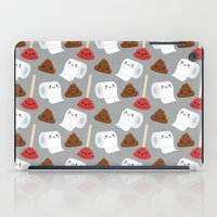 toilet iPad Cases featuring Toilet pattern by Irmirx