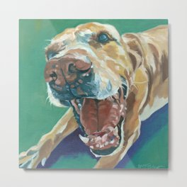 Yellow Labrador Dog Portrait Metal Print