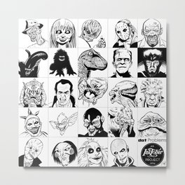 Inktober Monsters Metal Print