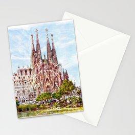 La Sagrada Familia watercolor Stationery Cards