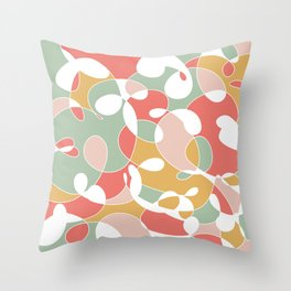 Bright Pastels Throw Pillow