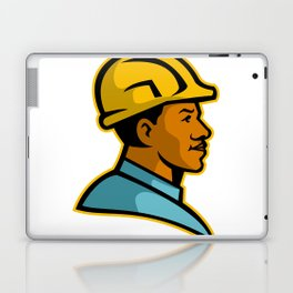 African American Construction Worker Mascot Laptop & iPad Skin