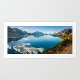 Breathtaking View of Lake Wakatipu in New Zealand Art Print
