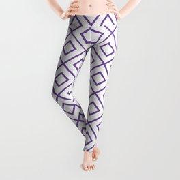 Purple Diamond Pattern 2 Leggings
