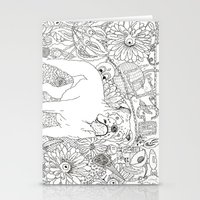 trippy Stationery Cards featuring Trippy by Kandus Johnson