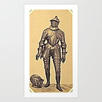 andreas preis Art Prints featuring Andreas Groll (photographer, 1812–1872): Armour / Rüstung by Ouijawedge