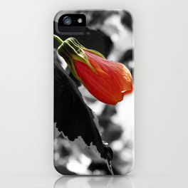Hibiscus Bud iPhone Case
