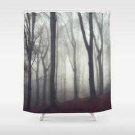 bonds - foggy forest scene Shower Curtain