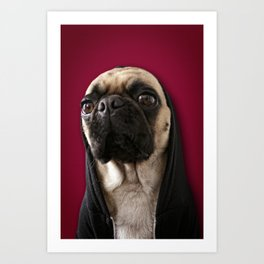 Lola on Red Art Print