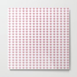 Rainbow Eyes Pattern - Tiny White Metal Print
