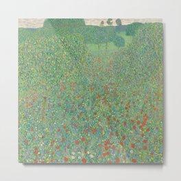 Blooming Poppy Metal Print