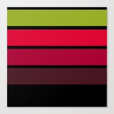Black, red, yellow , green abstract simple striped pattern . Canvas Print