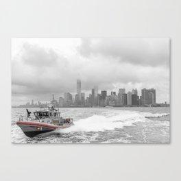 Coast Guard and NYC Canvas Print