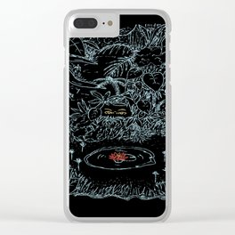 Watching cowardly Clear iPhone Case