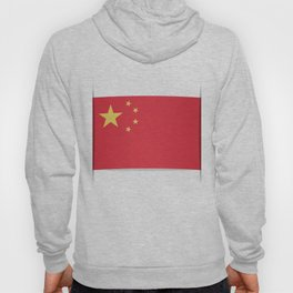 Flag of China. The slit in the paper with shadows. Hoody