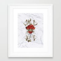 roman Framed Art Prints featuring Roman Marble by Eleaxart