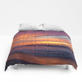 Pink Sunset Comforters