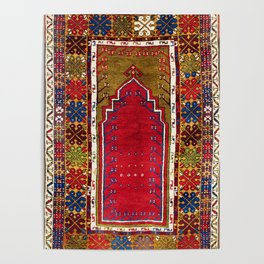 Karadag Antique Turkish Niche Carpet Poster