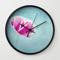 emma stone Wall Clocks featuring Emma by lucyliu
