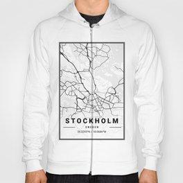 Stockholm Light City Map Hoody