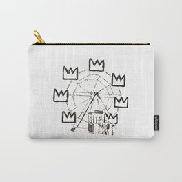 Ferris Wheel, Banksy Pays Tribute To Jean-Michel Basquiat, Artwork, Tshirts, Posters, Bags, Prints, Carry-All Pouch