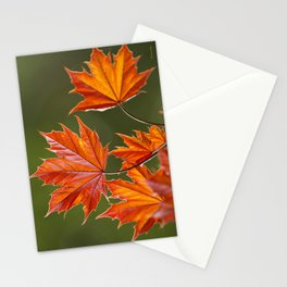 Abstract Maple Leaves Stationery Cards