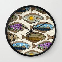 Alaskan halibut pearl Wall Clock
