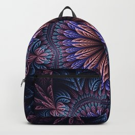 Magical dream flower in blue, purple and pink Backpack