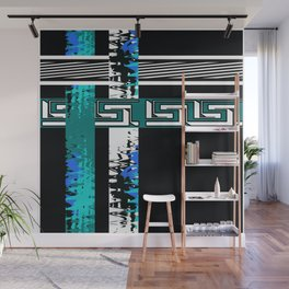 Vintage .Art . Intertwining colored bands . Retro . Wall Mural