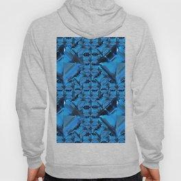 ORNATE  BLUE CRYSTAL GEMS PATTERN Hoody