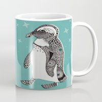penguin Mugs featuring Penguin by Rachel Russell