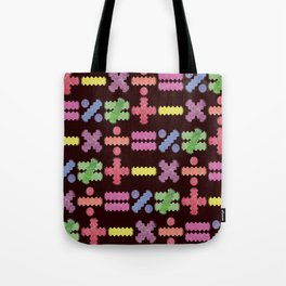 Seamless Colorful Abstract Mathematical Symbols Pattern II Tote Bag