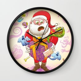 A Christmas Gift from Halloween Creepies to Santa Wall Clock