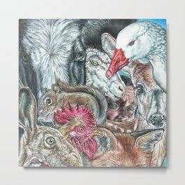 Animal World 2 Metal Print