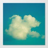 cloud Canvas Prints featuring Cloud by Jean-François Dupuis