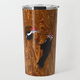 Pileated Woodpecker and Chick Travel Mug